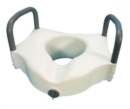 Essentials Locking Molded Raised Toilet Seat w/Arms 5051