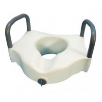 Essentials Locking Molded Raised Toilet Seat w/Arms 5051