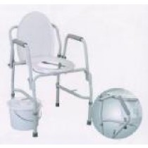 Essential Adjustable Coated Steel Drop Arm Commode