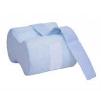"Essential Anatomic Knee Separator - 10"" Long White Terry Cloth cover"