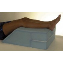 "Essential Elevating Leg Support - 20"" x 26"" x 8"" Blue Cotton/Poly Cover"