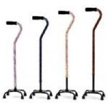 Essential Designer Small Base Quad Cane - Flower