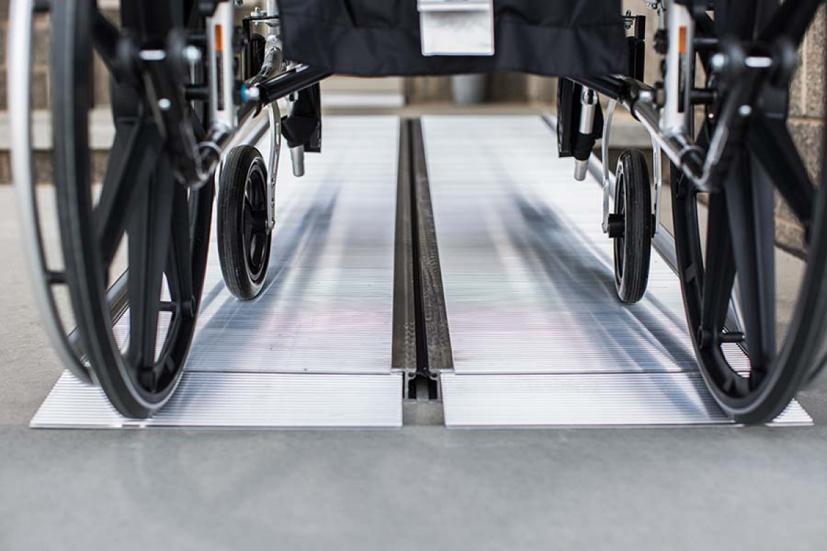 Wheelchair portable ramps