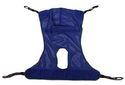 """Invacare Slings Mesh w/Commode Opening XLarge 65.7""""x45.5"""" 450 lb Capacity R116"""