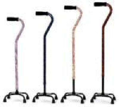Essential Designer Small Base Quad Cane - Indigo