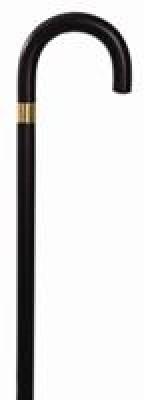Essential Endurance Wood Cane - Curved Handle - Black