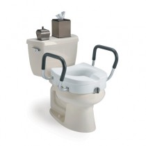 Invacare® Clamp-On Raised Toilet Seat With Arms #1302RTS