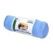 Essential Round Cervical Pillow - Blue Satin
